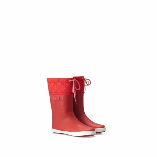 Aigle Winter Gummistiefel giboulee rouge/blanc